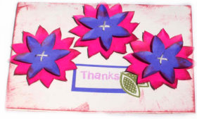 Cardmaking – Flower Thanks