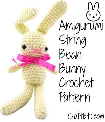 Amigurumi Crochet Pattern: String Bean Bunny