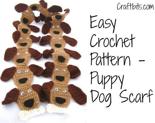 Crochet Scarf: Puppy Dog