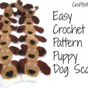 Crochet Scarf: Puppy Dog