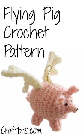 Crochet Pattern: Flying Pigs