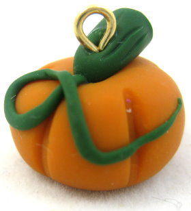 Polymer Clay – Pumpkin Bead