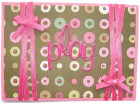 Cardmaking – Pink Play