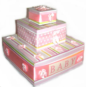 baby shower paper cake