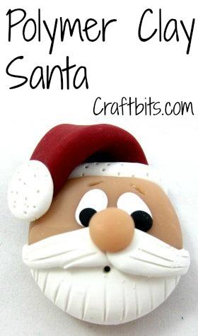 Polymer Clay Santa Head