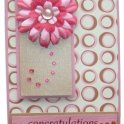 Cardmaking Idea - Congratulations Rhinestone