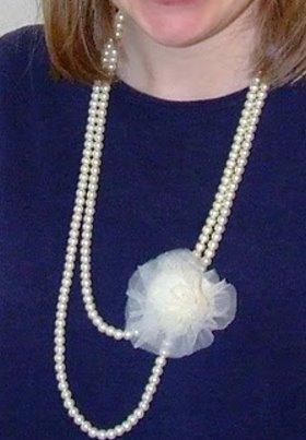 DIY Necklace – Bead and Chiffon