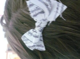 Recycled Fabric Hair Bow