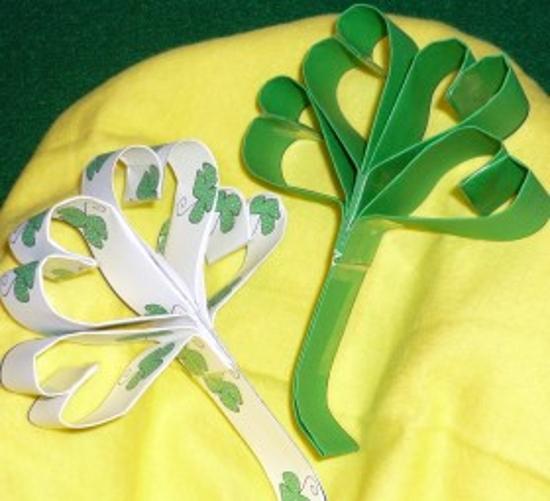 Polymer Clay St Patricks Day Shamrock Pendant