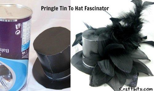 Pringle Tin Top Hat Fascinator