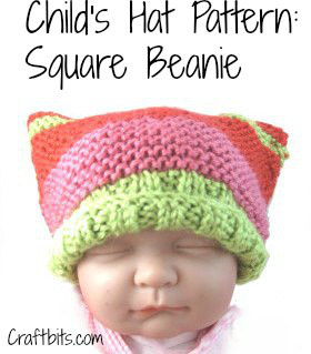 Child's Hat – Square Beanie