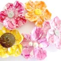 Starburst Flower Hair Clips