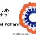 Patriotic Scrunchie Crochet Pattern