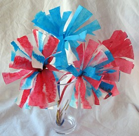 4th of july patriotic paper flowers