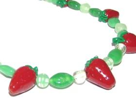 DIY Polymer Clay Strawberry Necklace