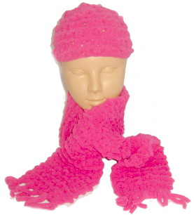 Child's Scarf – Chunky Chenille Wool