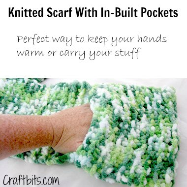 Knitted Scarf With Hand Pockets