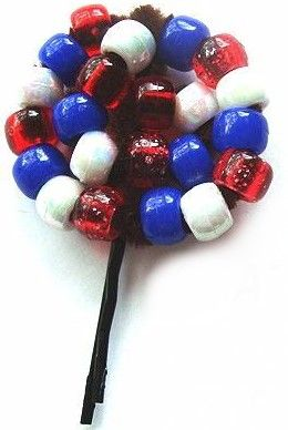 4th Of July Beaded Patriotic Pin