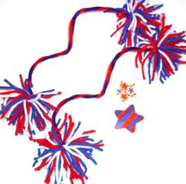 Patriotic Pom Poms