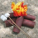 Cardboard Tube Campfire And Marshmallows