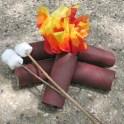 Cardboard Tube Campfire And Marshmallows