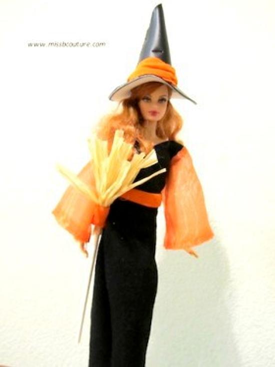 Halloween Witch Dress For Barbie Dolls