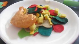 Felt Salad, Chicken and Cheese