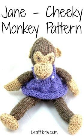 Jane Cheeky Monkey Knitted Pattern
