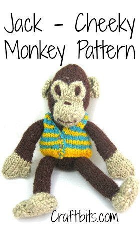 Jake Cheeky Monkey Knitted Pattern