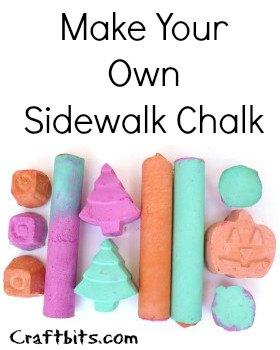 Make Your Own Sidewalk Chalk
