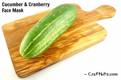 Cucumber And Cranberry Face Mask