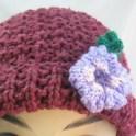 Knitted Flower For Beanies