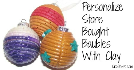 Polymer Clay Christmas Baubles