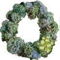 Wreath Made With Dried Hydrangea