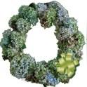 Wreath Made With Dried Hydrangea