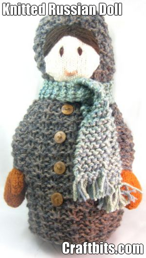Knitted Russian Doll