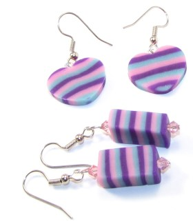 Polymer clay – Faux Resin Earrings