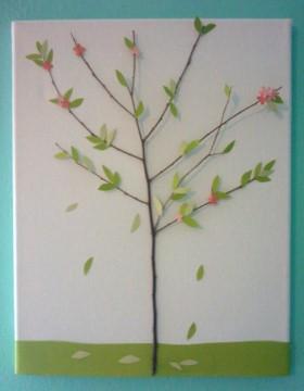 Twig Tree Canvas Art