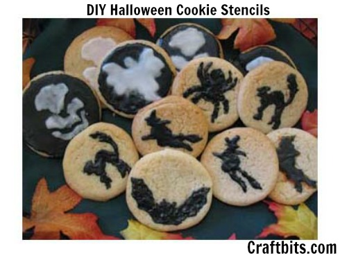 DIY Halloween Cookie Stencils