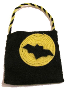 Halloween Treat Bag With A Scary Bat
