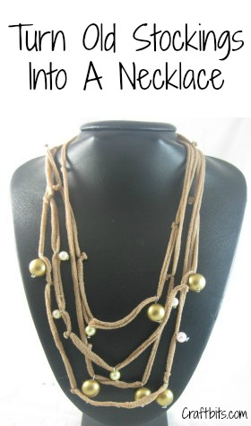 Recycled Stockings Necklace