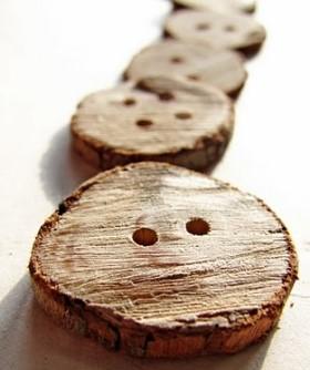 Wooden Branch Button