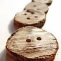 Wooden Branch Button