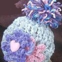 Crochet Baby Hat: Chunky Flowers