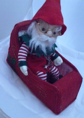 Make A Elf Doll Using Fabric