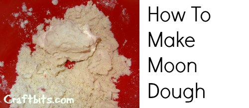Moon Dough – Homemade Playdough