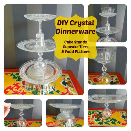 Upcycled Crystal Cake Stands