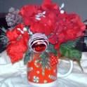 christmas mug centrepiece