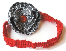 Hair Band – Fabric Flower