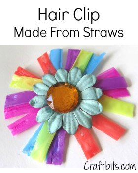 Hair Clip Made From Straws